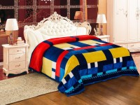 Signature Checkered Single Coral Blanket(Microfiber, Multicolor)