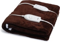 Expressions Plain Double Electric Blanket(Polyester, Brown)