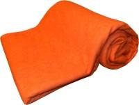 Expressions Plain Single Coral Blanket(Polyester, Orange)