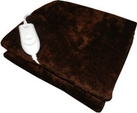 Expressions Plain Single Electric Blanket(Polyester, Brown)