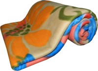 Expressions Floral Single Coral Blanket(Polyester, Multicolor)