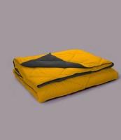 Stoa Paris Plain King Comforter(Microfiber, Yellow)