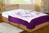 Chelsi Printed Single Comforter(Microfiber, Purple)