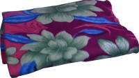 Bombay Dyeing Floral Double Blanket(Microfiber, Purple)
