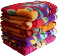 Livingcreation Printed Single AC Blanket(Microfiber, Multicolor)