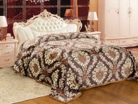 Signature Floral Single Coral Blanket(Microfiber, Multicolor)