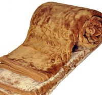 Youngman Floral Double Mink Blanket(Polyester, Brown)