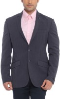 Raymond Striped Single Breasted Formal Mens Blazer(Blue)