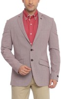Raymond Printed Single Breasted Formal Mens Blazer(Red)