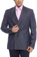 Raymond Solid Single Breasted Formal Mens Blazer(Blue)
