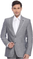 Raymond Solid Mandarin Formal Men's Blazer(Grey)