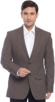 Raymond Solid Single Breasted Formal Mens Blazer(Brown)