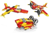 Fun Blox 3 in 1 Jet, Rotary-wing aircraft and Hovercraft Block Set(Multicolor)