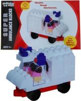Kreative Kids Super Ambulance Blocks - Education Through Entertainment -Age 3+(Multicolor)