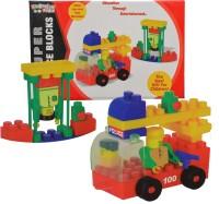 Kreative Kids Super Police Blocks Construction Set- Education through Entertainment - Age 3+(Multicolor)
