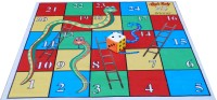 Atpata Funky 5x5 Ft Mat Snakes&Ladders & Dice 5inch Party & Fun Games Board Game