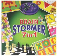 C J Enterprise Brain Stormer 7 In 1 Strategy & War Games Board Game