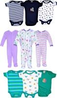 Gee & Bee Baby Boys & Baby Girls Black, Purple, Green Bodysuit