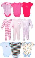 Gee & Bee Baby Boys & Baby Girls Pink, White, Grey Bodysuit