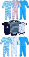 Gee & Bee Baby Boys & Baby Girls Blue, Black, White Bodysuit