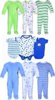 Gee & Bee Baby Boys & Baby Girls Green, Blue, White Bodysuit