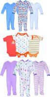 Gee & Bee Baby Boys & Baby Girls Blue, Orange, Purple Bodysuit