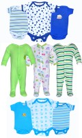 Gee & Bee Baby Boys & Baby Girls Blue, Green, White Bodysuit