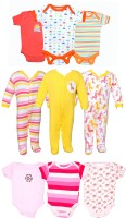 Gee & Bee Baby Boys & Baby Girls Orange, Yellow, Pink Bodysuit