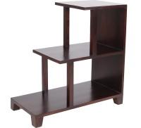 View Wood Dekor Engineered Wood Open Book Shelf(Finish Color - Dark Brown) Price Online(Wood Dekor)