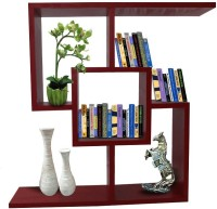View Afydecor Solid Wood Open Book Shelf(Finish Color - Red) Furniture (Afydecor)