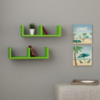 View Kingscrafts Solid Wood Open Book Shelf(Finish Color - Green) Furniture (Kingscrafts)