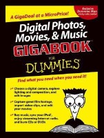 Digital Photos, Movies, & Music Gigabook for Dummies( Series - For Dummies (Computer/Tech) )(English, Paperback, Martin Doucette, Todd Staufer, David D. Busch, David Kushner, Andy Rathbone, Mark L. Chambers, Tony Bove, Cheryl Rhodes, Keith Underdahl)