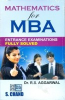 Mathematics for MBA Entrance Examinations (Fully Solved)(English, Paperback, R S Aggarwal)