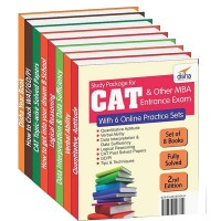 Study Package for CAT & other MBA Entrance Exams with 6 Online Practice Sets 2nd Edition(English, Paperback, Deepak Agarwal, Shipra Agarwal, Gajendra Kumar, Abhishek Banerjee, Bharat Patodi, Aditya Choudhary)