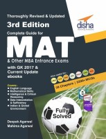 Complete Guide for MAT and other MBA Entrance Exams with GK 2017 & Current Update ebooks 3rd Edition(English, Paperback, Disha Experts)
