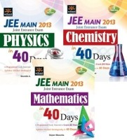 JEE Joint Entrance Exam Main in 40 Days (Set of 3 Books)(English, Paperback, Saurabh A Rajeev Manocha Praveen Kumar)