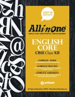 CBSE All in One ENGLISH CORE Class 12th (2017-18)(English, Paperback, Arihant Experts)