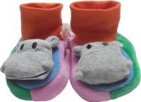 BornBabyKids Booties(Toe to Heel Length - 13 cm Multicolor)