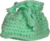 Ole Baby Soft Handmade Crochet Knit Sock Infant Woolen Shoes.0-12 months Booties(Toe to Heel Length - 10 cm Green)