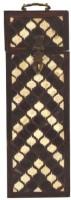 Artlivo Persian Inlay Wine Box Wooden Bottle Rack Cellar(Brown, White, 1 Bottle)