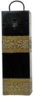 Artlivo Uber Elegant Wine Box Square Wooden Bottle Rack Cellar(Black, Gold, 1 Bottle)