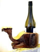 Kreatish Wooden Wine Rack(Brown, 1 Bottle)