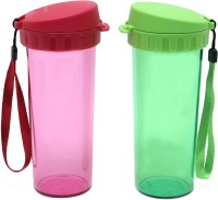 Tupperware Drinking 500 ml Bottle(Pack of 2, Red, Green)