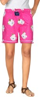 London Bee Pink Floral Print Womens Boxer(Pack of 1)