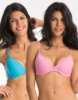 PrettySecrets Womens Push-up Blue, Pink Bra