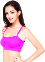 PrivateLifes by PrivateLifes Women's Sports Lightly Padded Bra(Pink)
