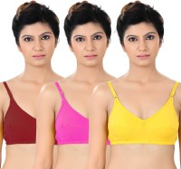 S4S Womens Full Coverage Red, Pink, Yellow Bra
