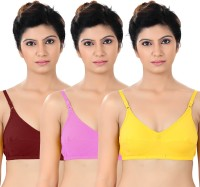 S4S Womens Full Coverage Maroon, Pink, Yellow Bra