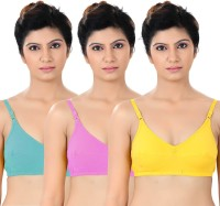 S4S Womens Full Coverage Green, Pink, Yellow Bra