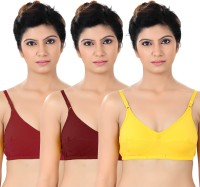 S4S Womens Full Coverage Red, Maroon, Yellow Bra